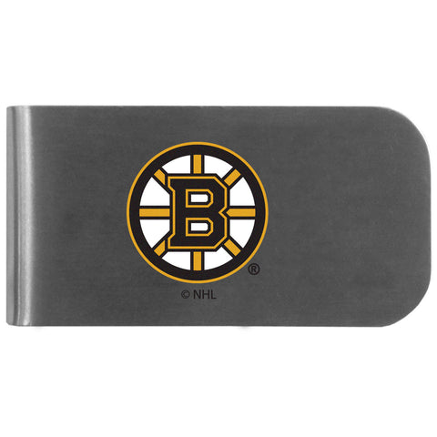 Boston Bruins   Logo Bottle Opener Money Clip