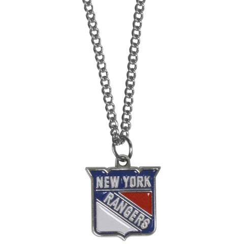 New York Rangers   Chain Necklace with Small Charm