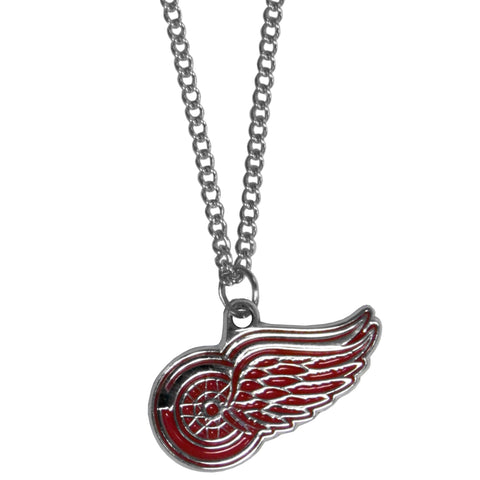 Detroit Red Wings   Chain Necklace with Small Charm