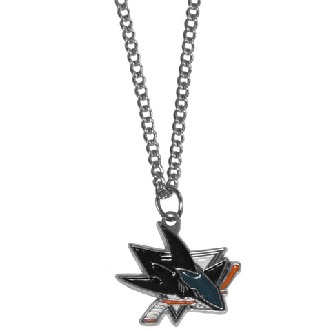 San Jose Sharks   Chain Necklace with Small Charm