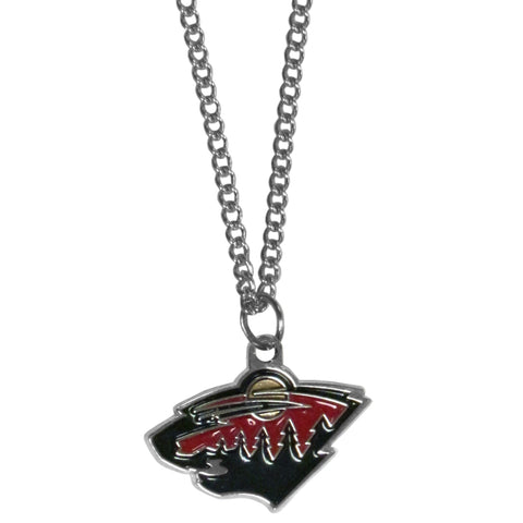 Minnesota Wild   Chain Necklace with Small Charm