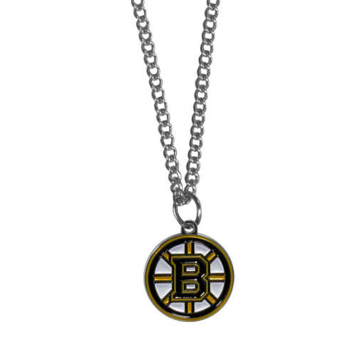Boston Bruins   Chain Necklace with Small Charm