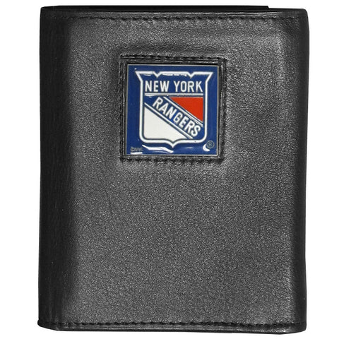 New York Rangers   Deluxe Leather Tri fold Wallet Packaged in Gift Box