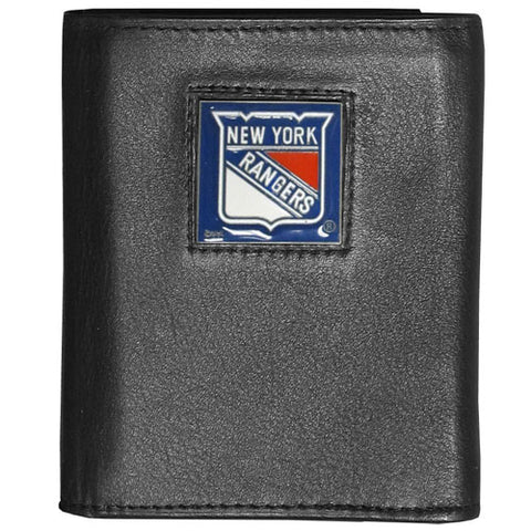New York Rangers   Deluxe Leather Tri fold Wallet