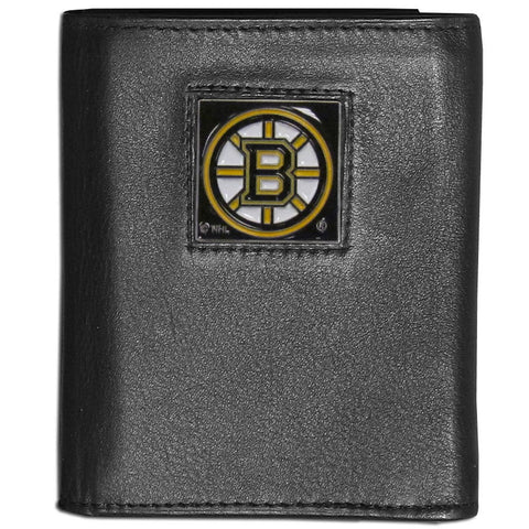 Boston Bruins   Leather Tri fold Wallet