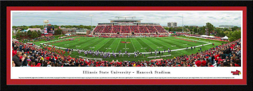 "Illinois State Football Single Mat, Select Framed Panoramic Print 15.5"" L x 42"" W"