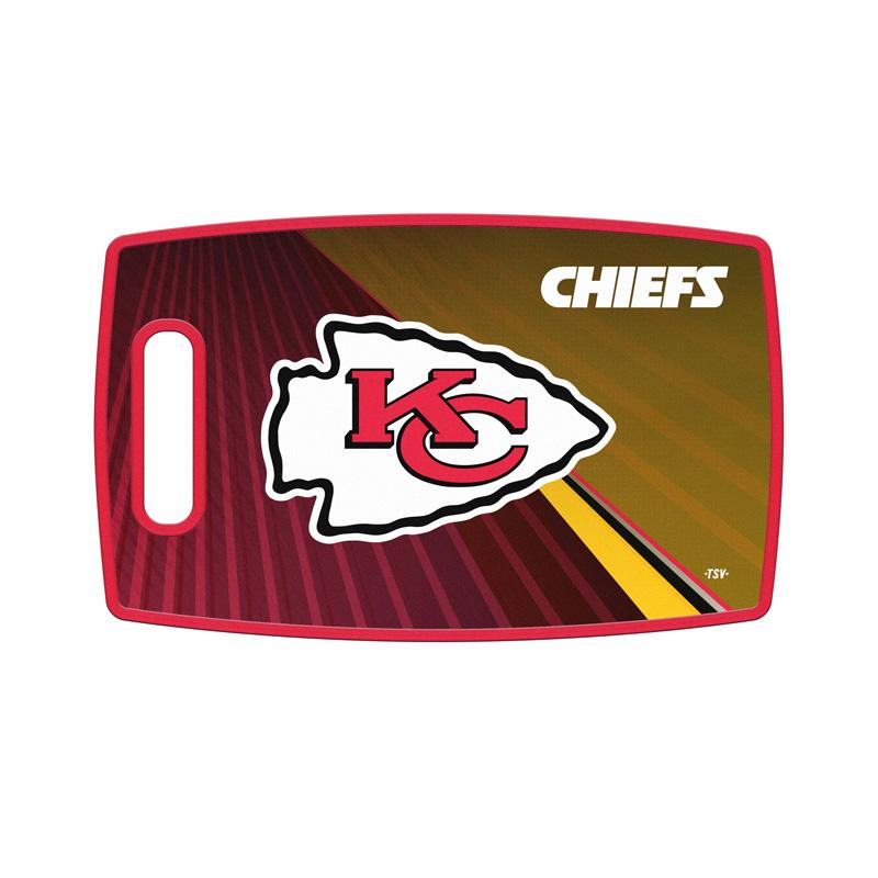 NFL Kansas City Chiefs Vibrant Team Design Large Cutting Board