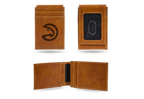 Atlanta Hawks Laser Engraved Front Pocket Wallet