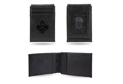 New Orleans Pelicans Laser Engraved Front Pocket Wallet