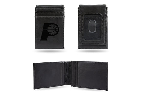 Indiana Pacers Laser Engraved Front Pocket Wallet