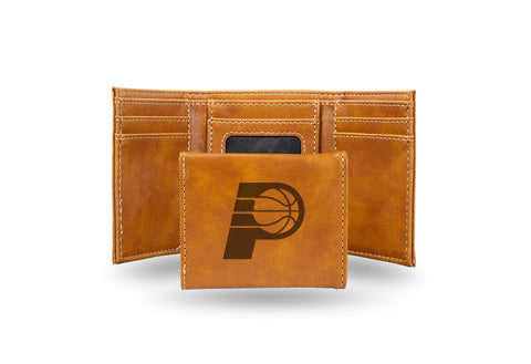 Indiana Pacers Laser Engraved Trifold Wallet