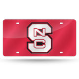 North Carolina State Wolfpack Laser Cut License Tag
