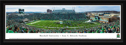 "Marshall University Football Single Mat, Select Framed Panoramic Print 15.5"" L x 42"" W"