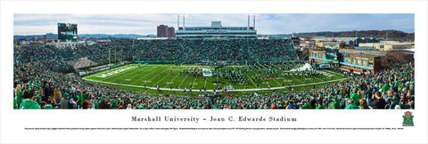 "Marshall University Football Unframed Panoramic Poster 13.5"" L x 40"" W"