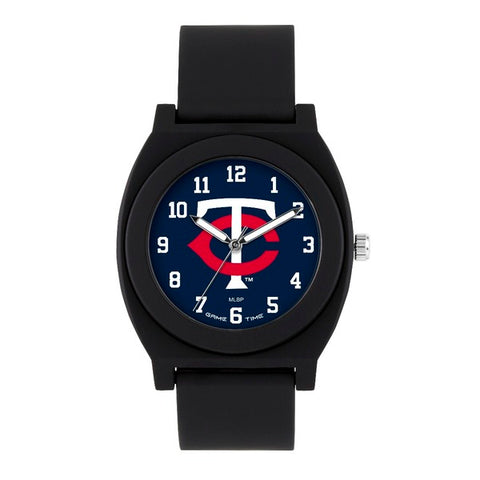 Minnesota Twins Analog Fan Black Unisex Watch