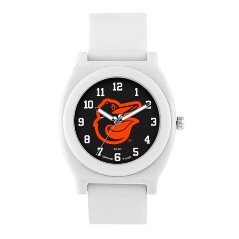 Baltimore Orioles Analog Fan White Unisex Watch