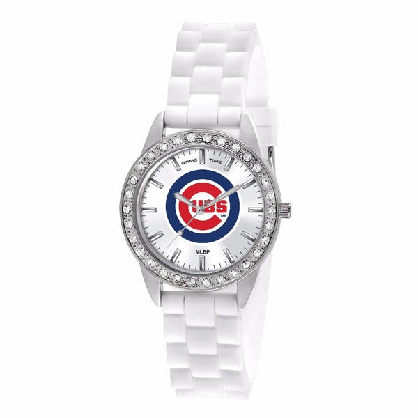 Chicago Cubs Ladies Frost Watch
