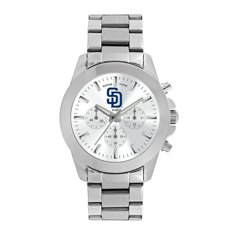 San Diego Padres Ladies Quartz Analog Silver Round Case Silver Bracelet 39Mm Knockout