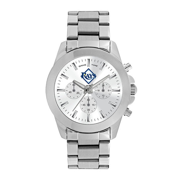 Tampa Bay Rays Ladies Quartz Analog Watch With Silver Round Case Silver Bracelet 39Mm Knockout