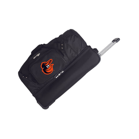 Baltimore Orioles 27in Wheeled Duffel Nylon bag-BLACK