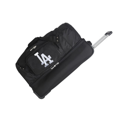 Los Angeles Dodgers 27in Wheeled Duffel Nylon bag-BLACK