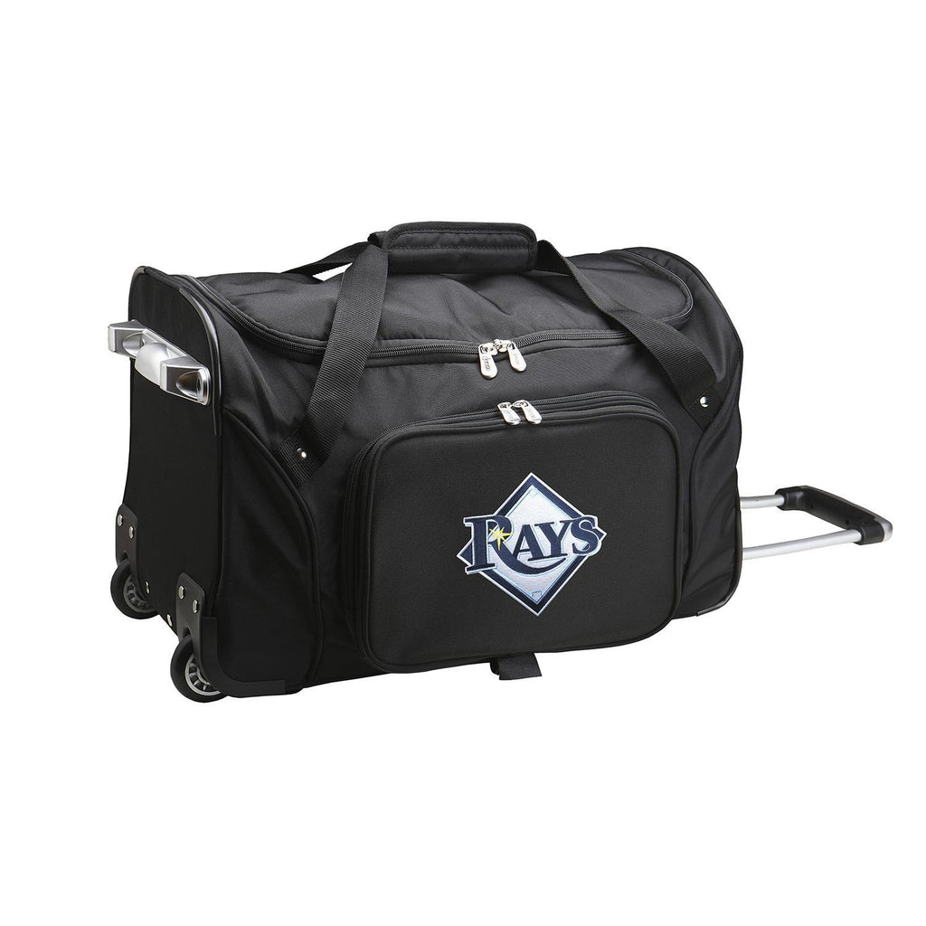 Tampa Bay Rays 22in Wheeled Duffel Nylon Bag-BLACK