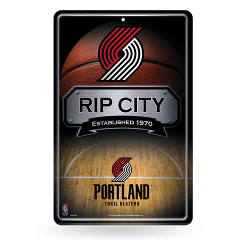 Portland Trail Blazers Large Metal Sign
