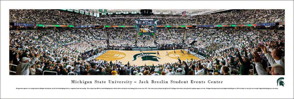 "Michigan State Spartans Basketball Unframed Panoramic Poster 13.5"" L x 40"" W"