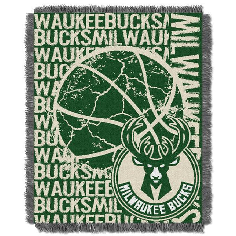 "Milwaukee Bucks Double Play 46""x 60"" Triple Woven Jacquard Throw"