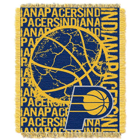 "Indiana Pacers Double Play 46""x 60"" Triple Woven Jacquard Throw"