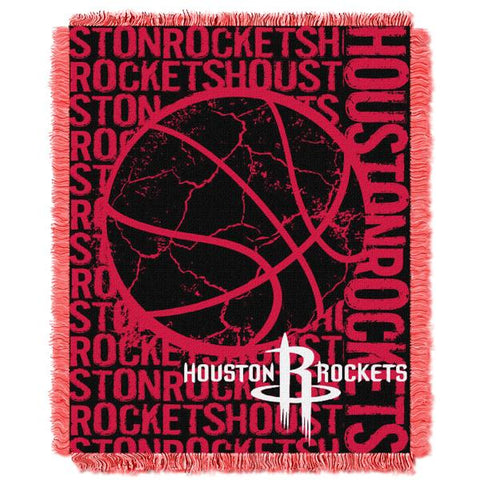 "Houston Rockets Double Play 46""x 60"" Triple Woven Jacquard Throw"
