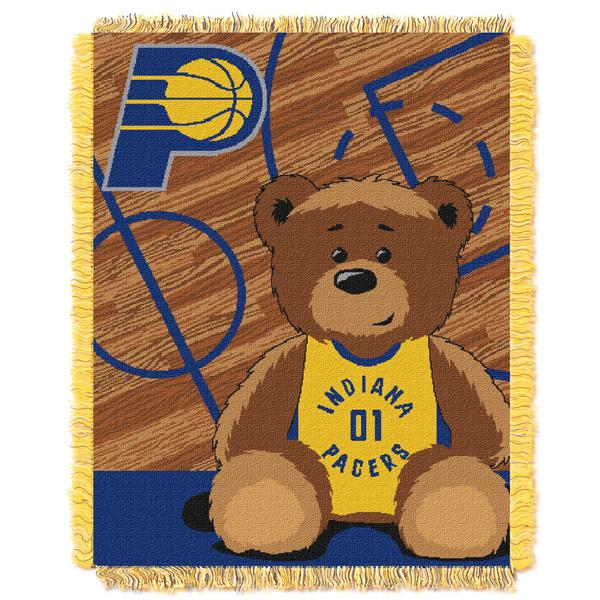 "Indiana Pacers NBA Half Court Baby 36""x 46"" Triple Woven Jacquard Throw"