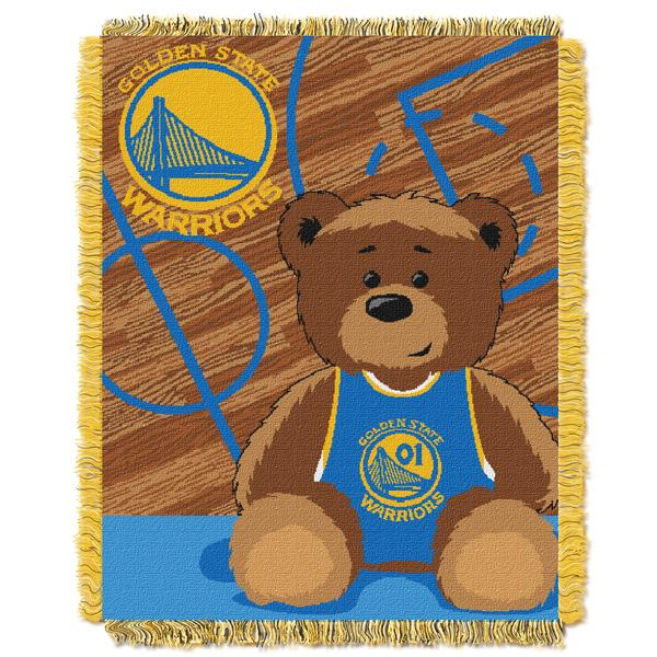 "Golden State Warriors NBA Half Court Baby 36""x 46"" Triple Woven Jacquard Throw"