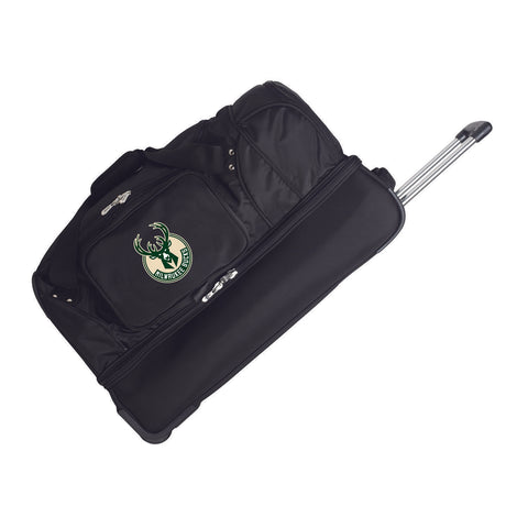 Milwaukee Bucks 27in Wheeled Duffel Nylon bag-BLACK