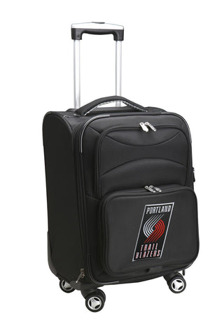 Portland Trailblazers Luggage Carry-On 21in Spinner Softside Nylon-BLACK