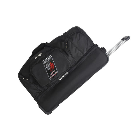 Portland Trailblazers 27in Wheeled Duffel Nylon bag-BLACK