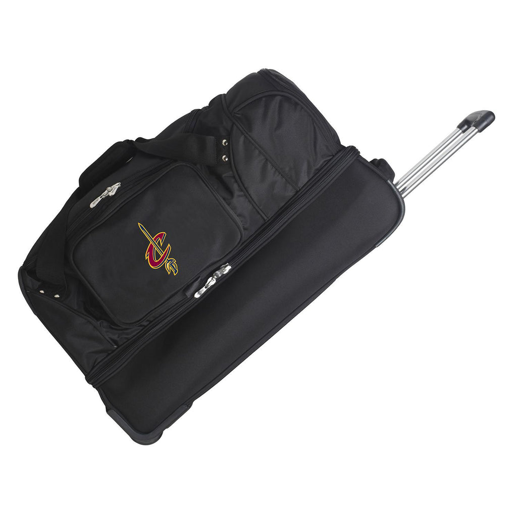 Cleveland Cavaliers 27in Wheeled Duffel Nylon bag-BLACK