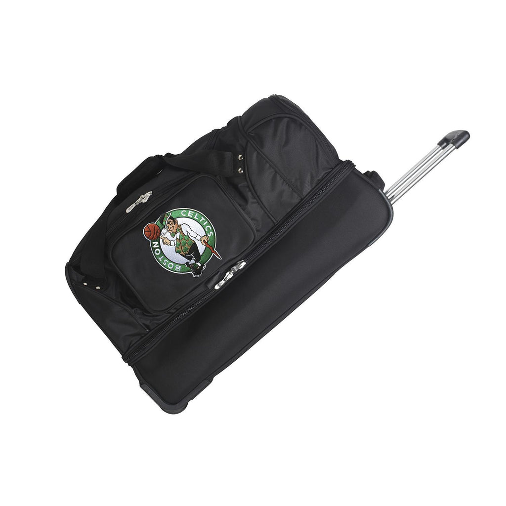 Boston Celtics 27in Wheeled Duffel Nylon bag-BLACK