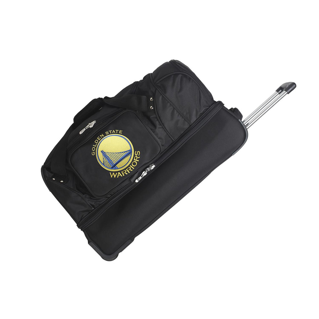 Golden State Warriors 27in Wheeled Duffel Nylon bag-BLACK