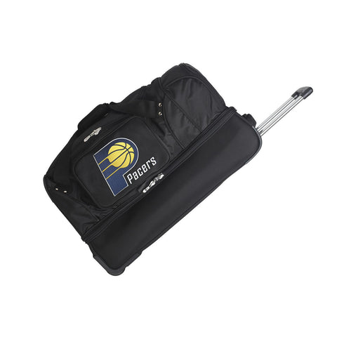 Indiana Pacers 27in Wheeled Duffel Nylon bag-BLACK