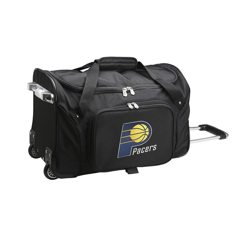 Indiana Pacers 22in Wheeled Duffel Nylon Bag-BLACK