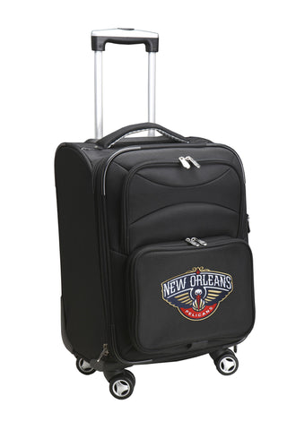 New Orleans Pelicans Luggage Carry-On 21in Spinner Softside Nylon-BLACK