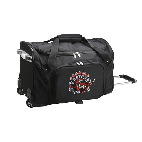Toronto Raptors 22in Wheeled Duffel Nylon Bag-BLACK