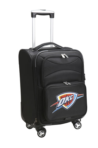 OKC Thunder Luggage Carry-On 21in Spinner Softside Nylon-BLACK