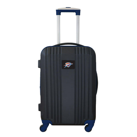 OKC Thunder Luggage Carry-on 21in Hardcase two-tone Spinner 100% ABS-NAVY