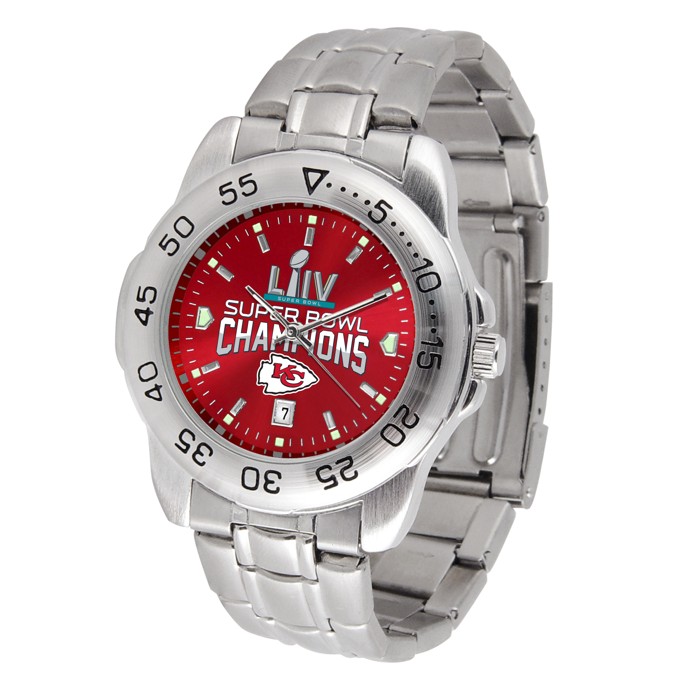 Kansas City Chiefs SUPER BOWL CHAMPIONS Sport Steel Series Watch
