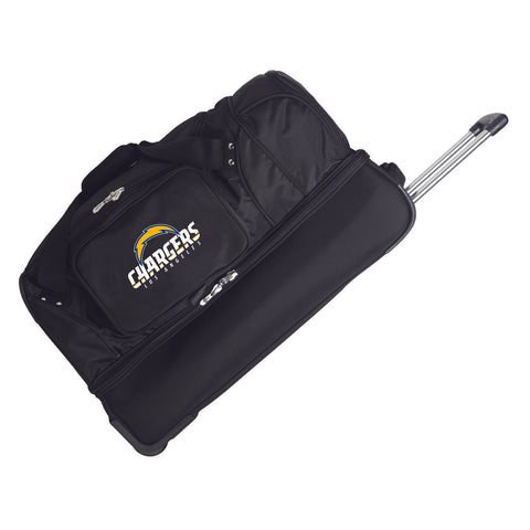 Los Angeles Chargers  27in Wheeled Duffel Nylon bag-BLACK