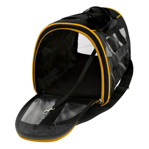 Boston Bruins Pet Carrier Premium 16in bag-YELLOW
