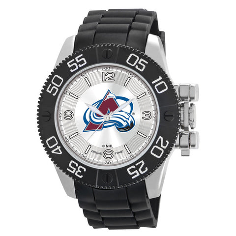 Colorado Avalanche Mens Quartz Analog Silver Round Case Black Strap 48Mm Beast