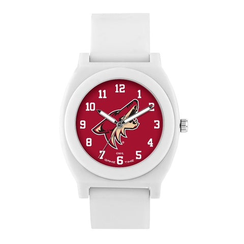 Arizona Coyotes Analog Fan White Unisex Watch